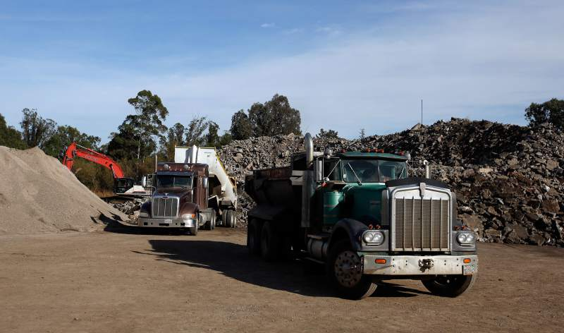 Concrete Torched in Sonoma County Fires Being Recycled